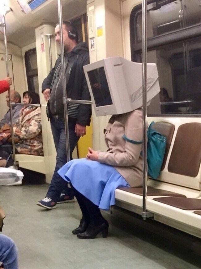 компьютер на голове