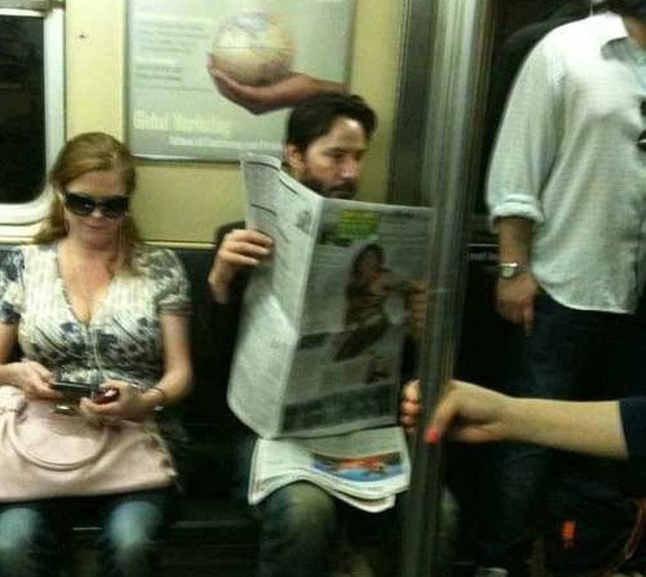 актер в метро