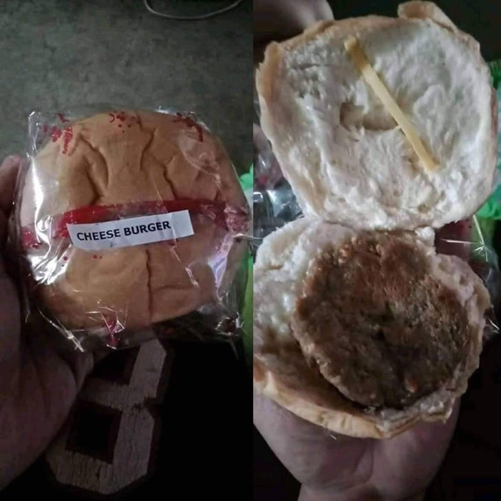 чизбургер без сыра