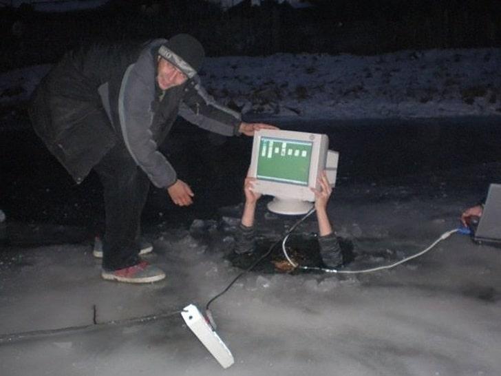 компьютер тонет