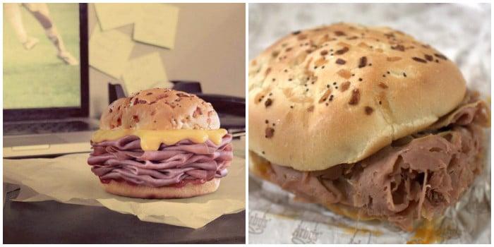 ожидание и реальность: бургер