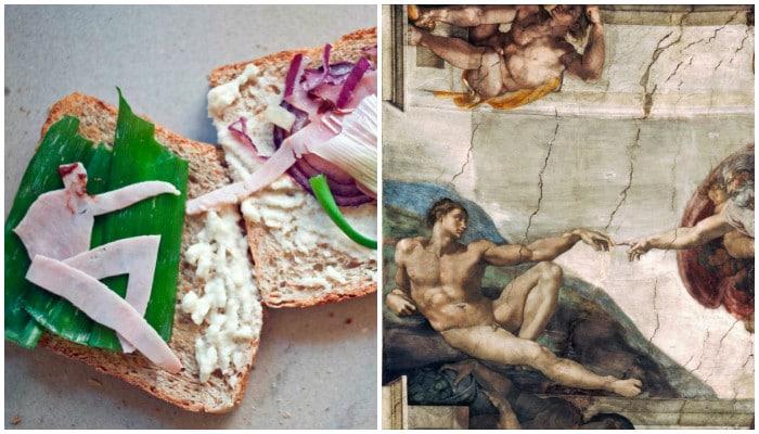 Искусство и еда: люди воссоздают знаменитые картины самым необычным способом!