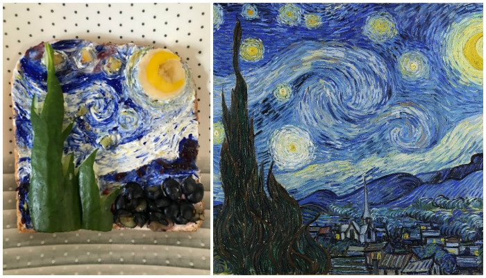 """Звёздная ночь"" Ван Гог"