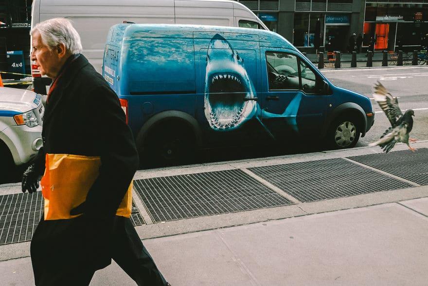 аэрография с акулой на авто