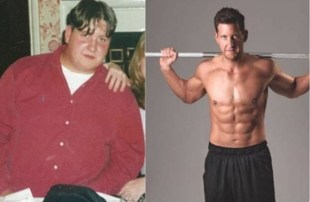мужчина сбросил лишний вес
