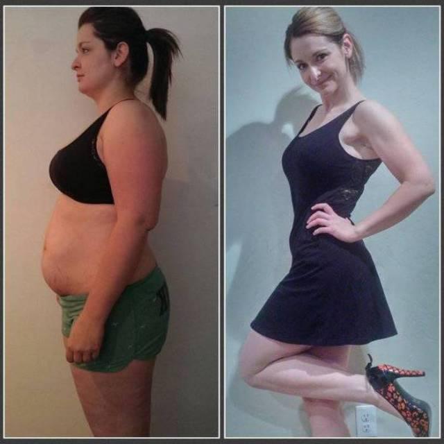женщина диета: до и после