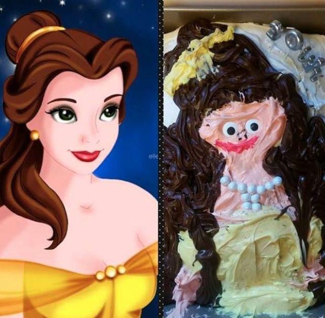 торт диснеевской принцессы