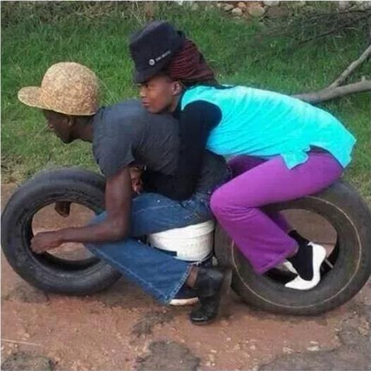 чернокожая пара