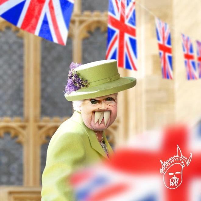 Елизавета II фотошоп