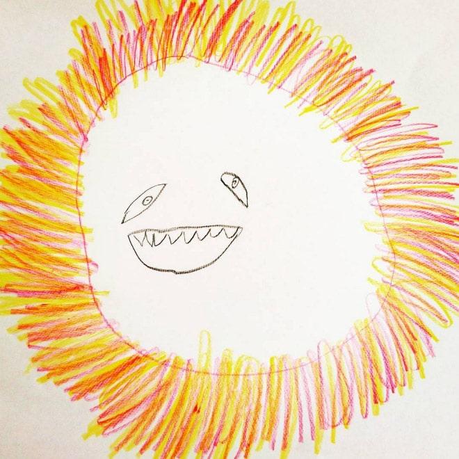 лев детский рисунок