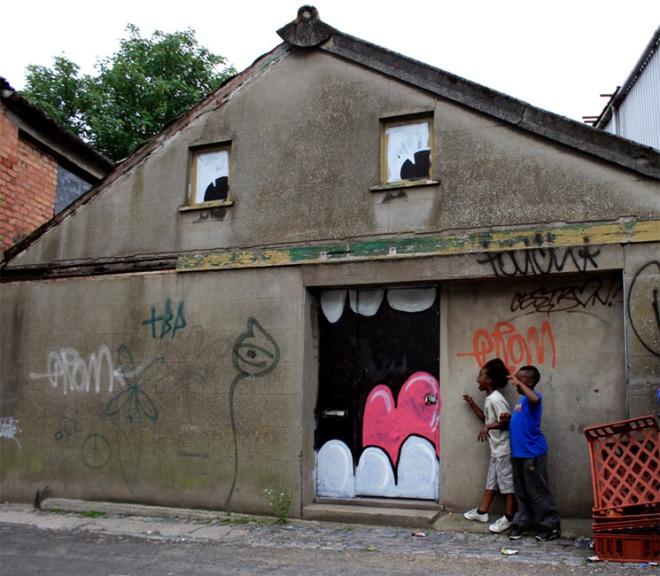разрисованный дом