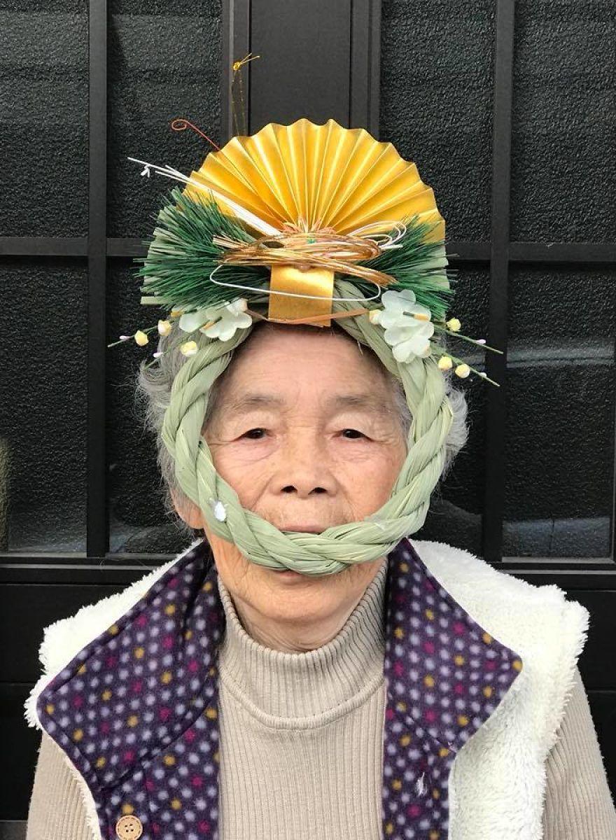 необычный женский портрет