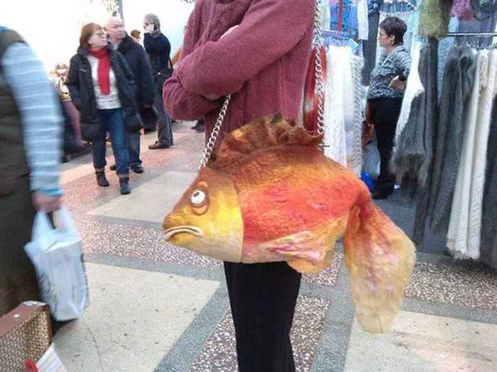 сумка в виде рыбы