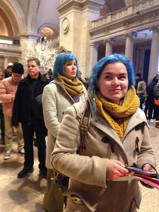 девушки с голубыми волосами