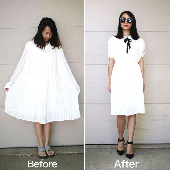женщина в белом платье