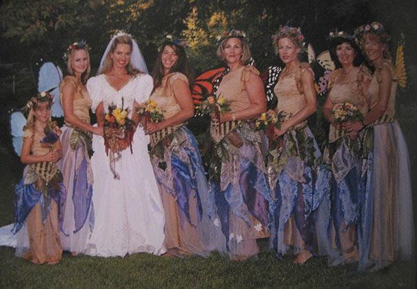 подружки невесты с нарядах фей