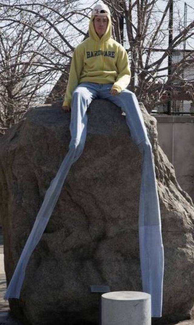 очень длинные мужские джинсы