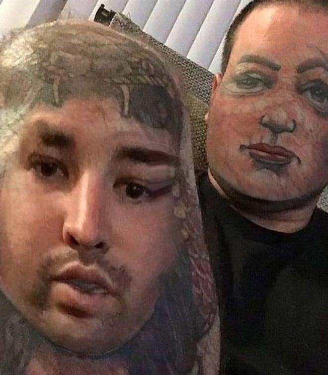 парень поменялся лицом с тату