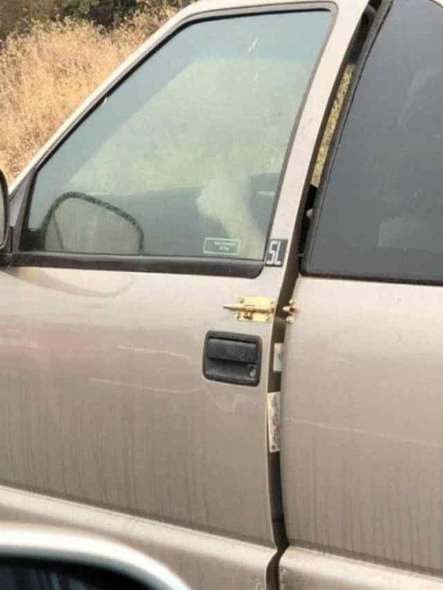 защёлка на двери авто