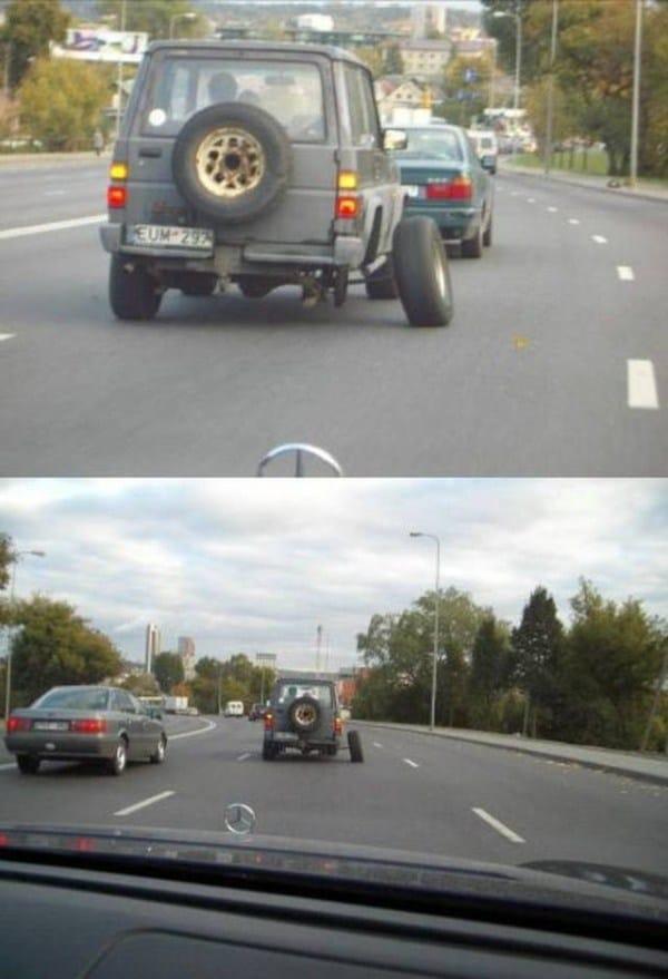 машина без колеса