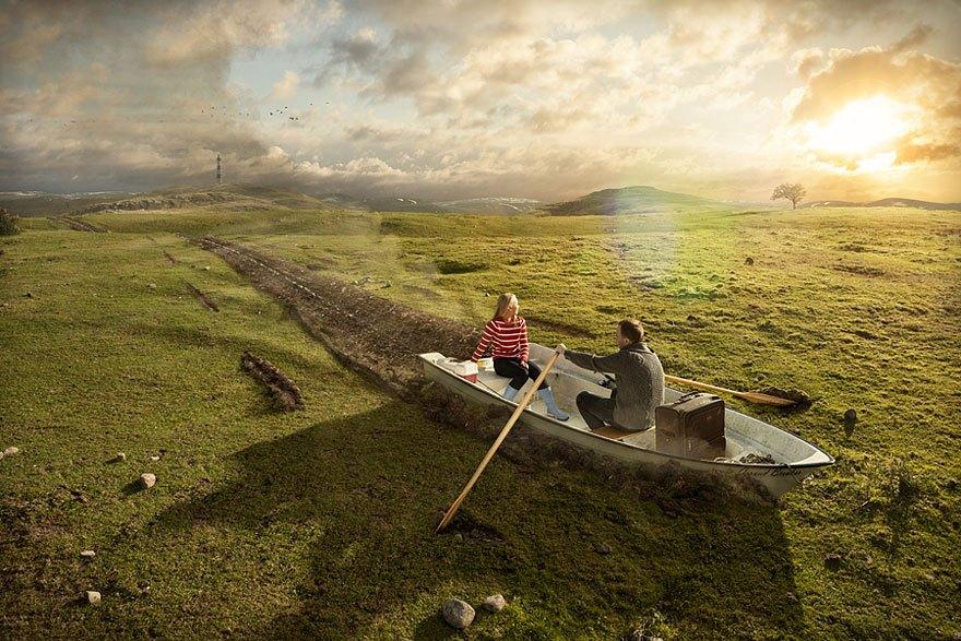 фотошоп и лодка