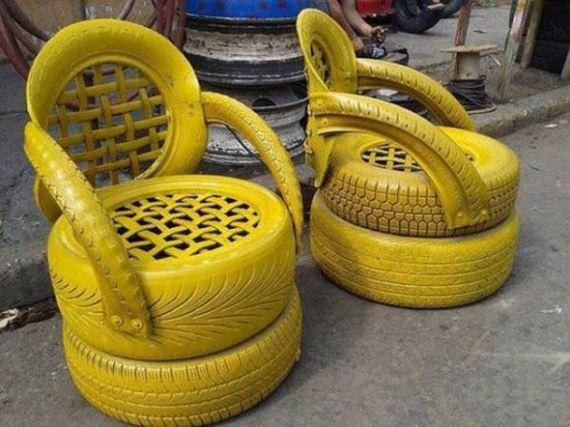 кресла из колес