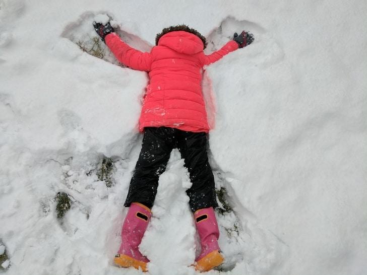ангел на снегу