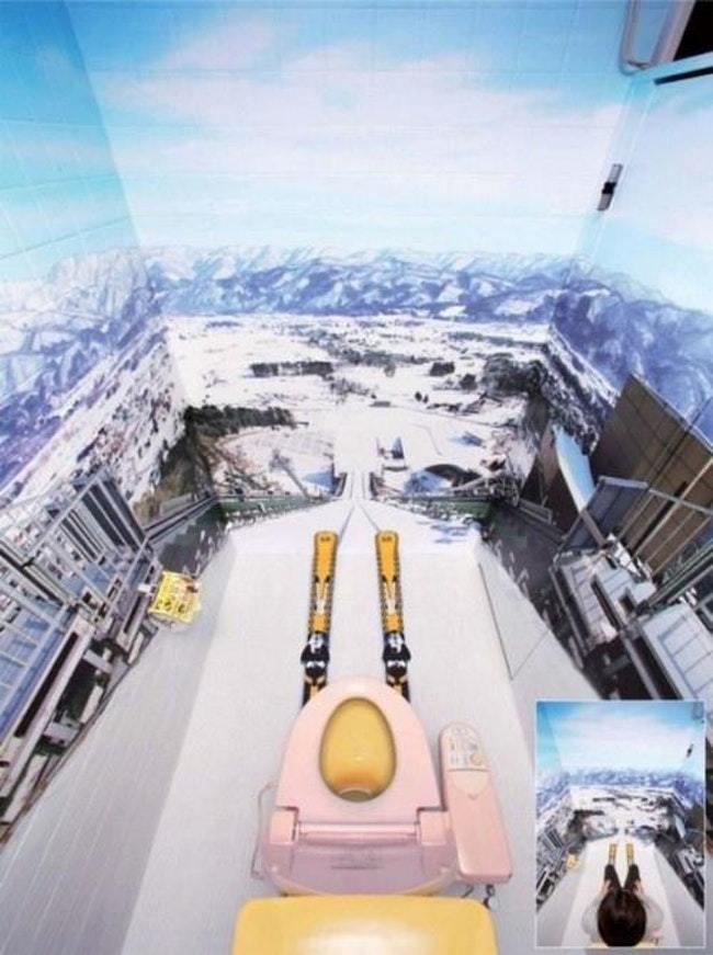фотообои гор в туалете