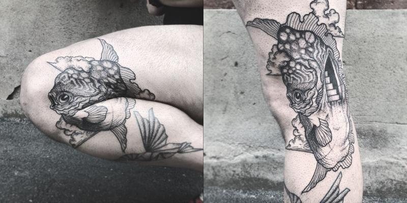 креативная татуировка