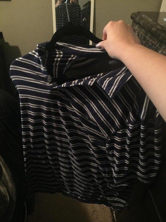 рубашка на тремпеле