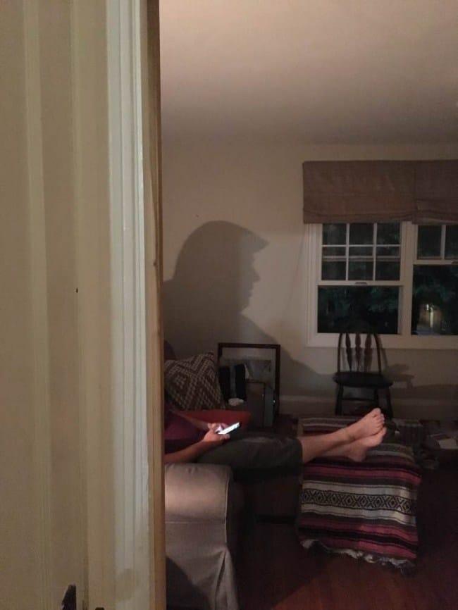 тень дональда трампа в комнате