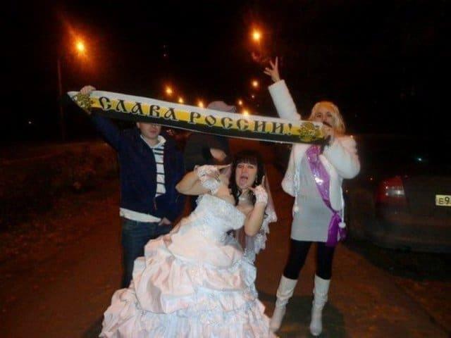 невеста с шарфом