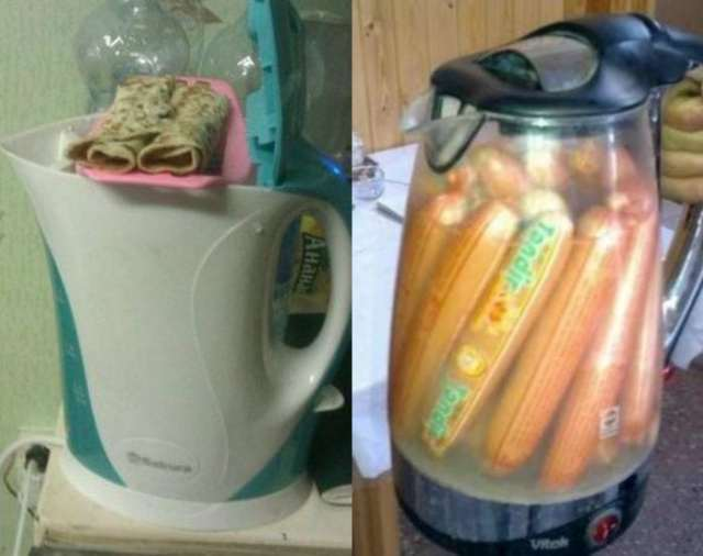 чайник с едой