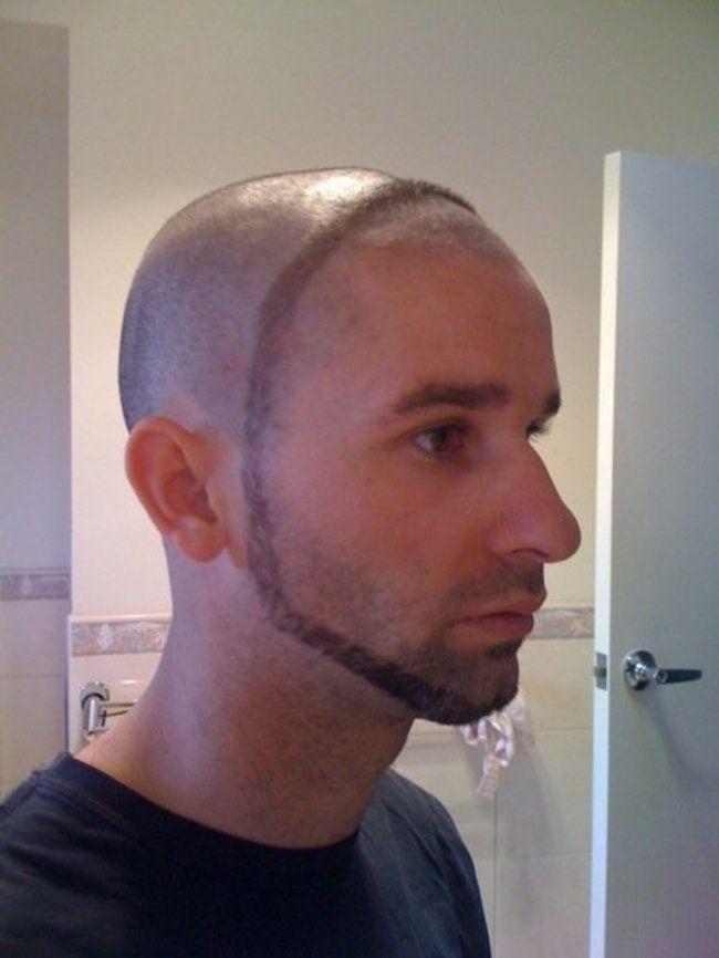 парень с бородой вокруг головы
