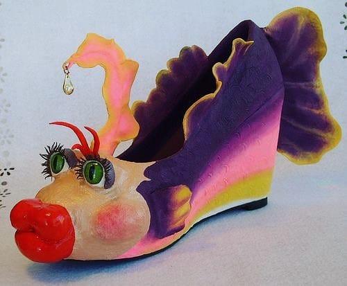 туфли в виде рыбы