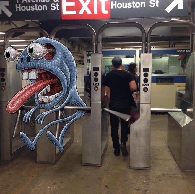 монстр в метро рис 2