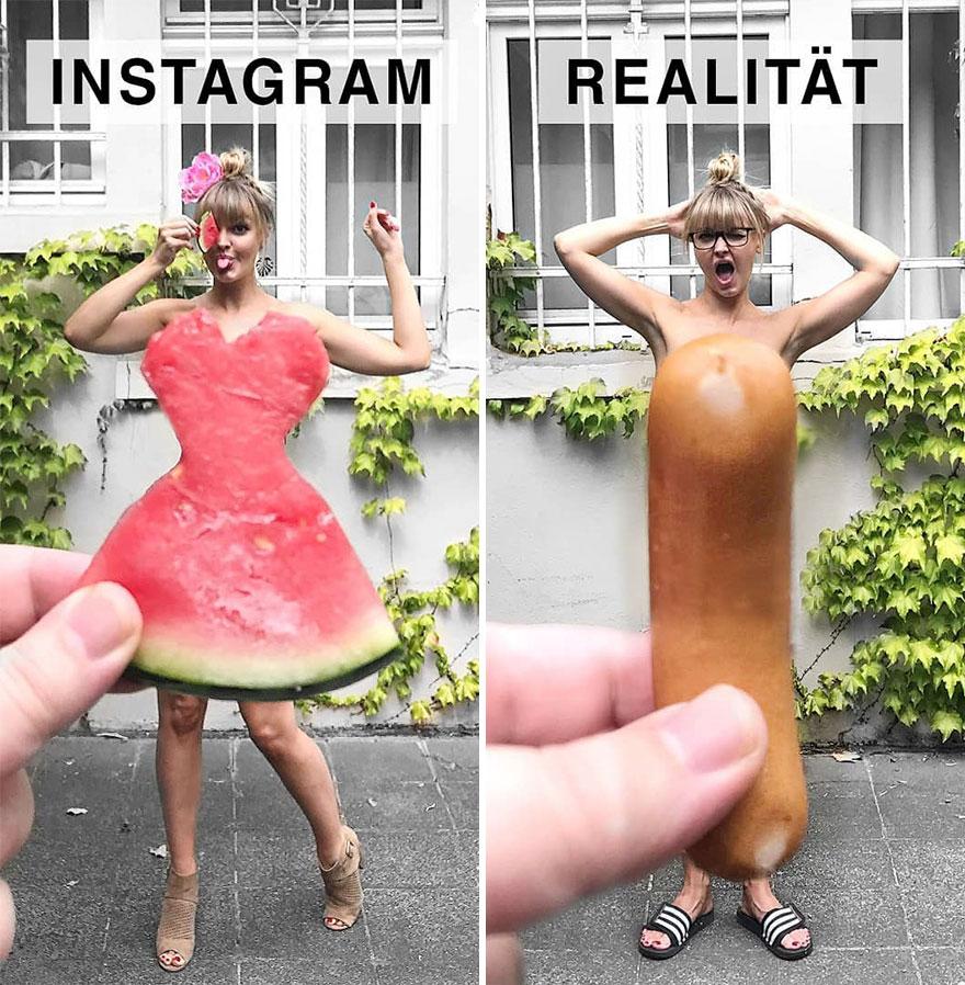 Инстаграм и жизнь: женщина и еда