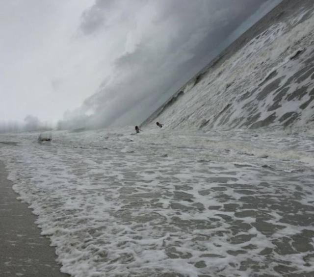 панорамное фото: океан