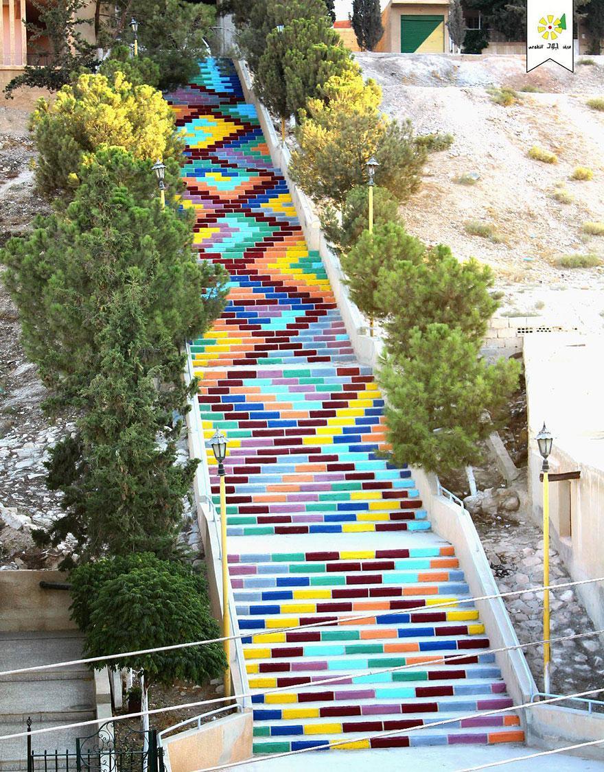 цветастая лестница