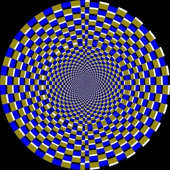 оптическая иллюзия с кругом