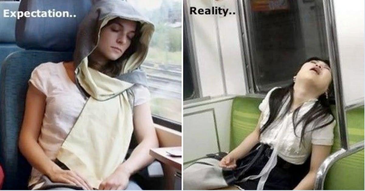 девушки спят в общественном транспорте
