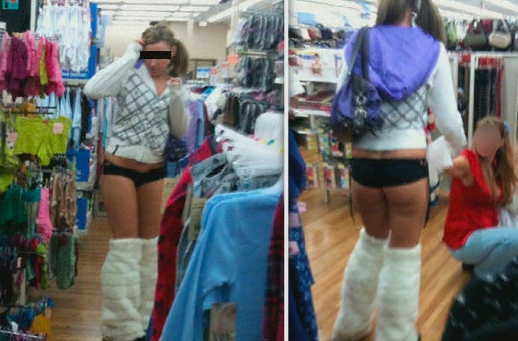 девушка в странной одежде