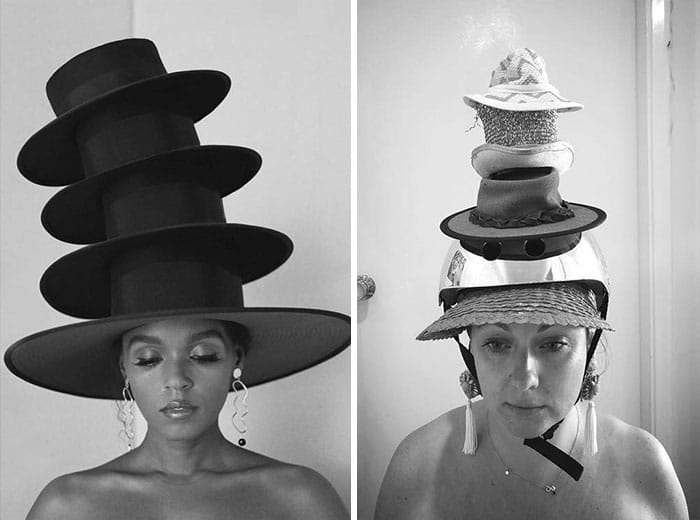 Селеста Барбер со шляпами