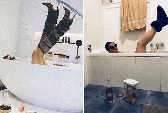 Селеста Барбер в ванне
