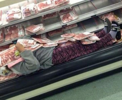 человек с мясом