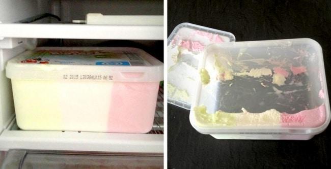 мороженое в контейнере