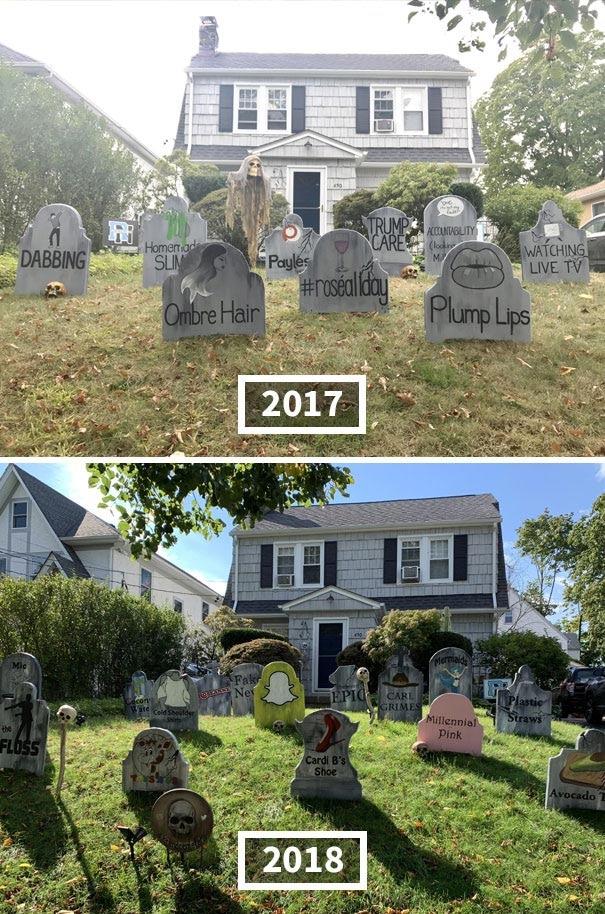 кладбище во дворе