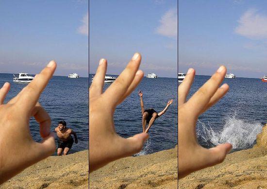 смешное фото море