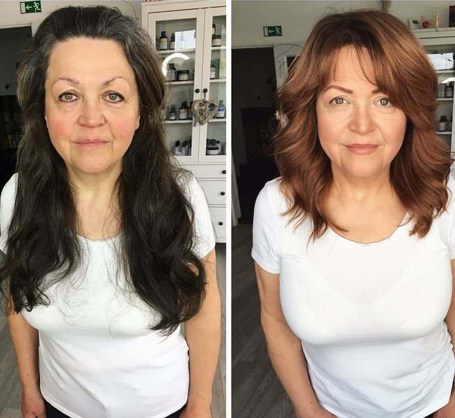 преображение волос женщины
