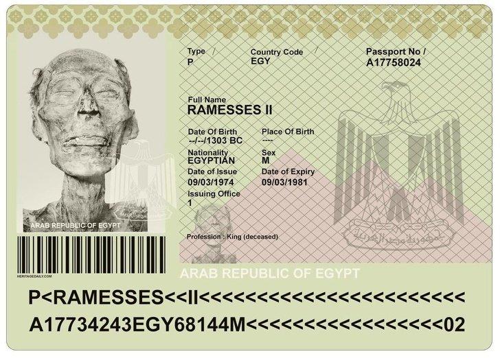 паспорт фараона
